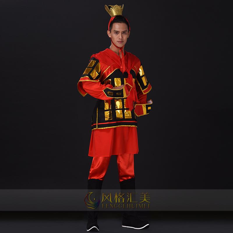 舞台演出服装大型古典舞台表演服装将士盔甲演出服装定制