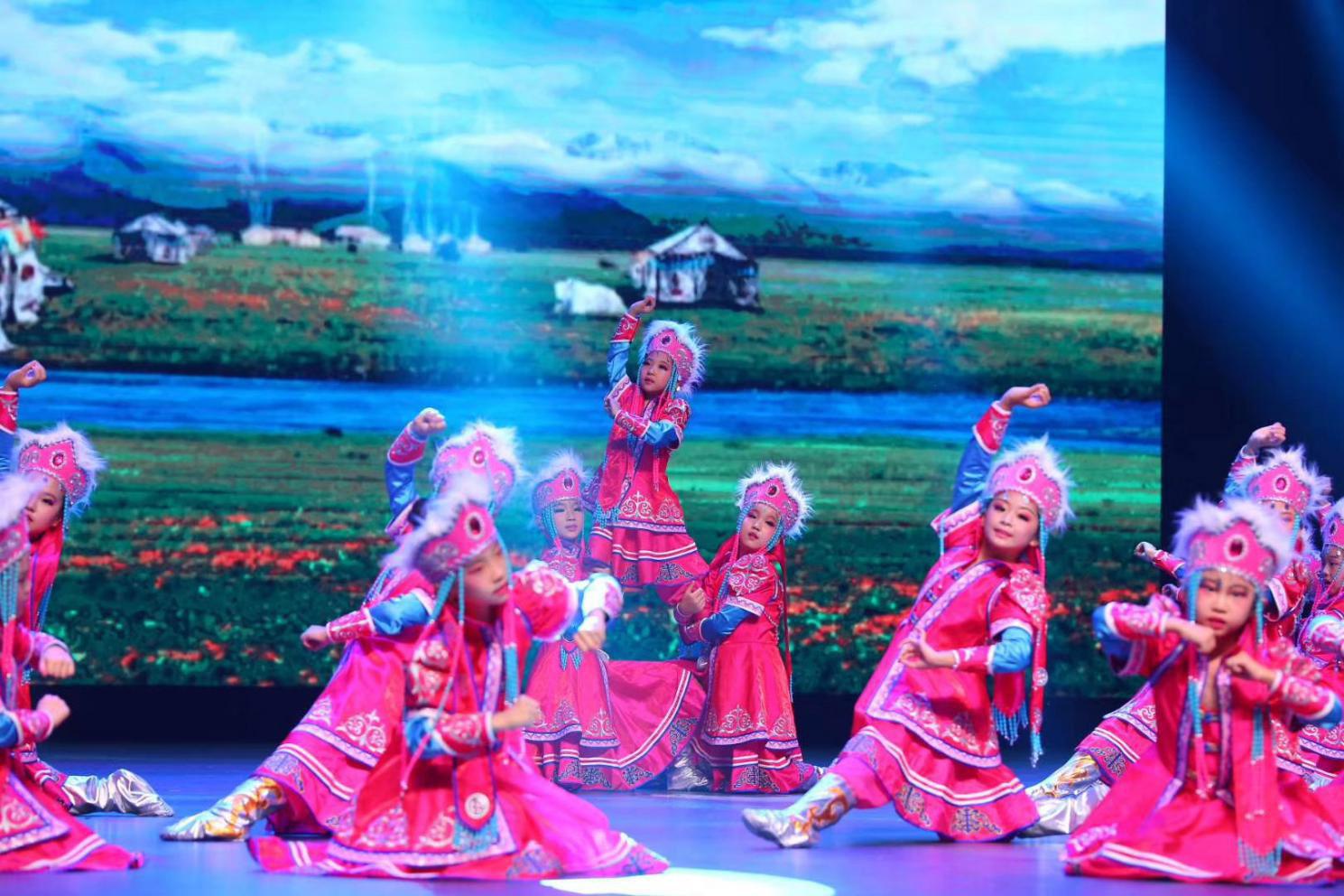 蒙古舞蹈演出服装学生舞台表演服装定制
