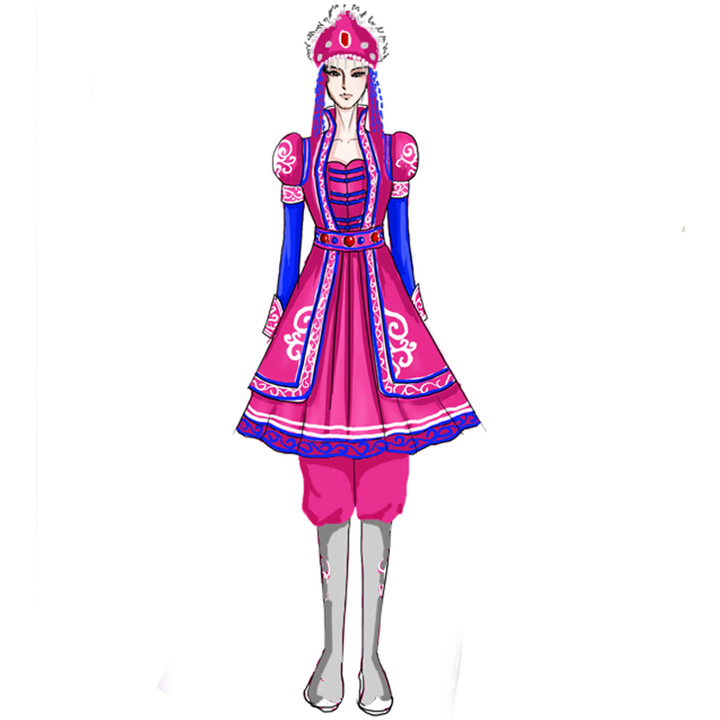 蒙古舞蹈演出服装定制生产
