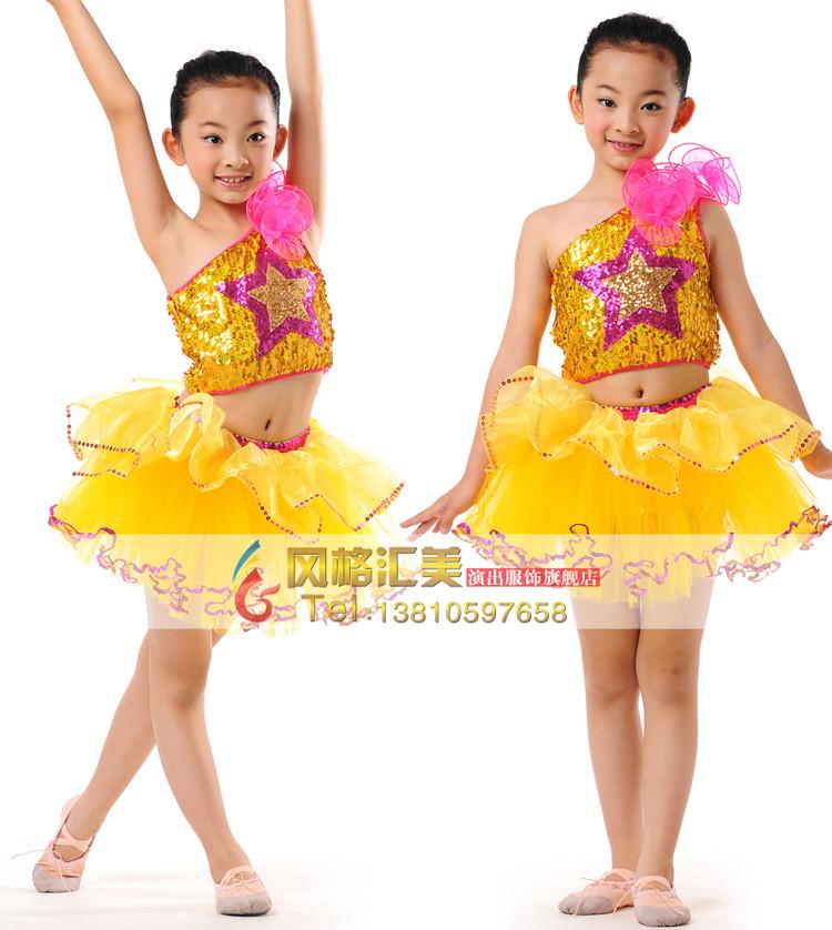 夏季儿童舞蹈服装