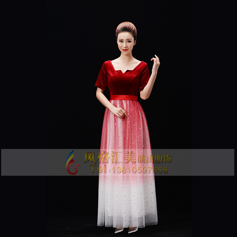 女式合唱服装设计
