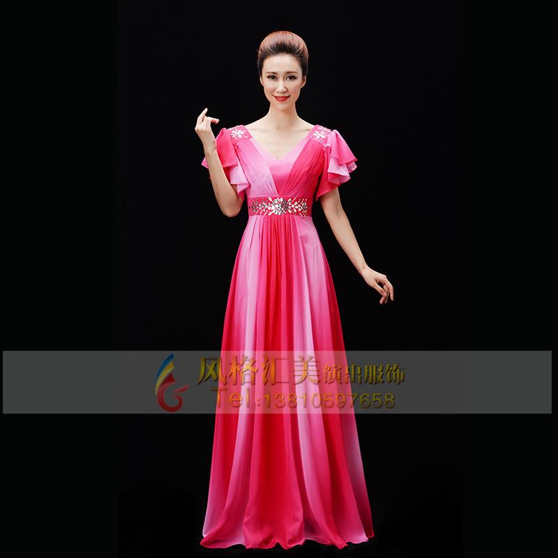 成人女士合唱服装设计