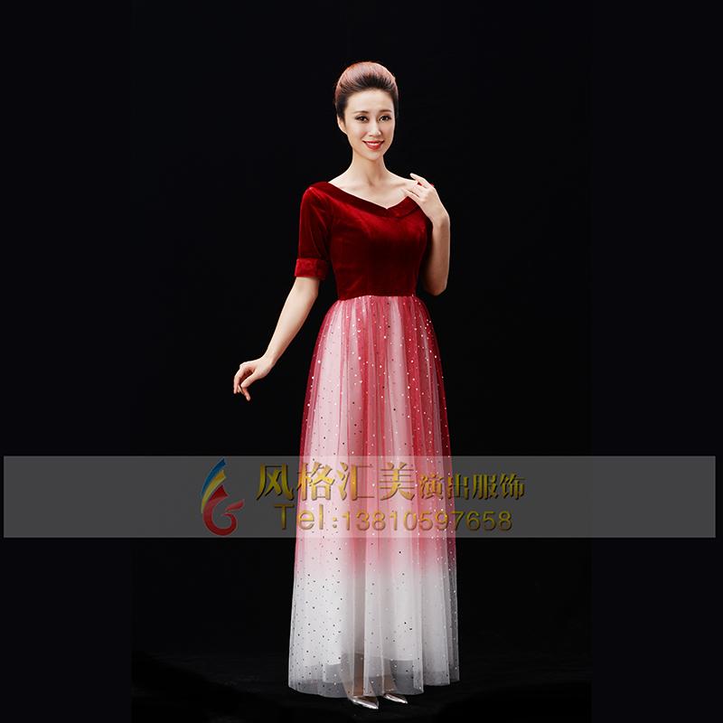 成人女士团体合唱服装设计