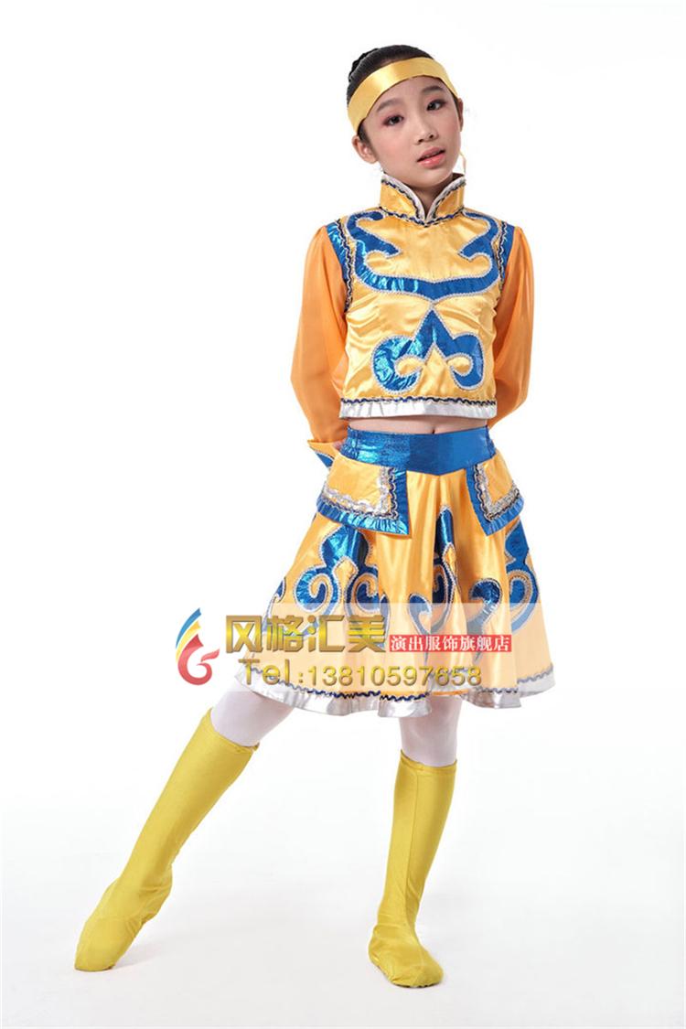儿童民族舞蹈演出服装选择注意点