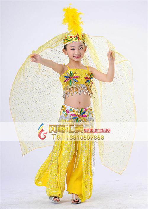 学校学生民族舞蹈演出服装设计
