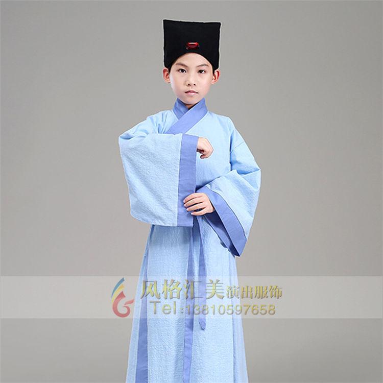 校园学生古代演出服装设计定制