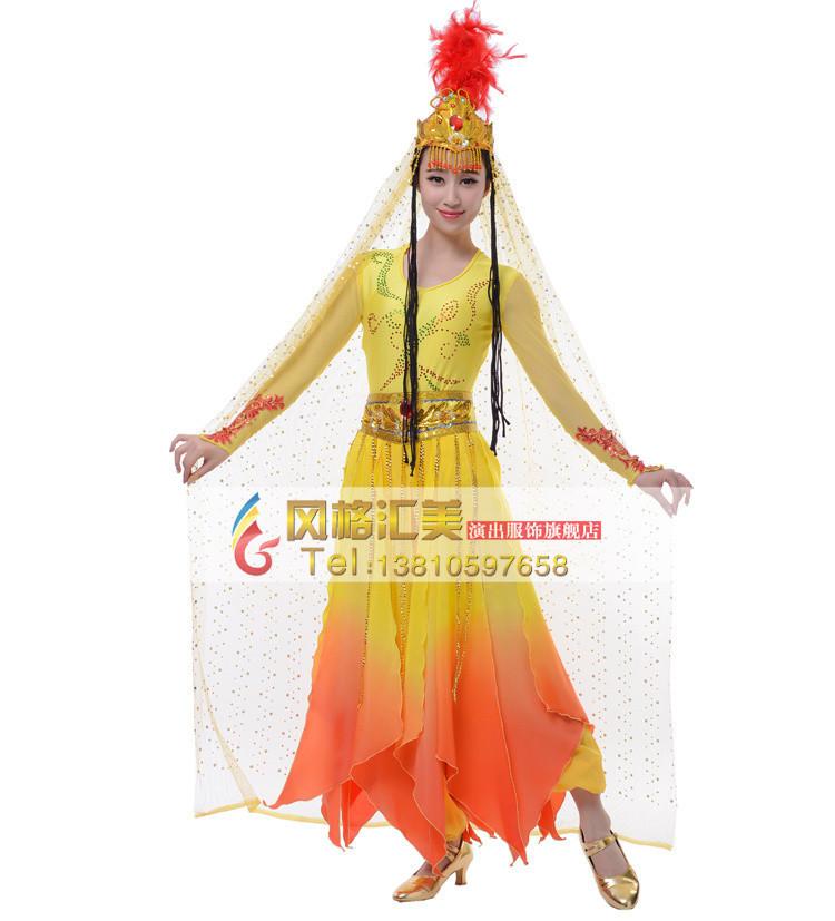 精美民族舞蹈演出服装设计