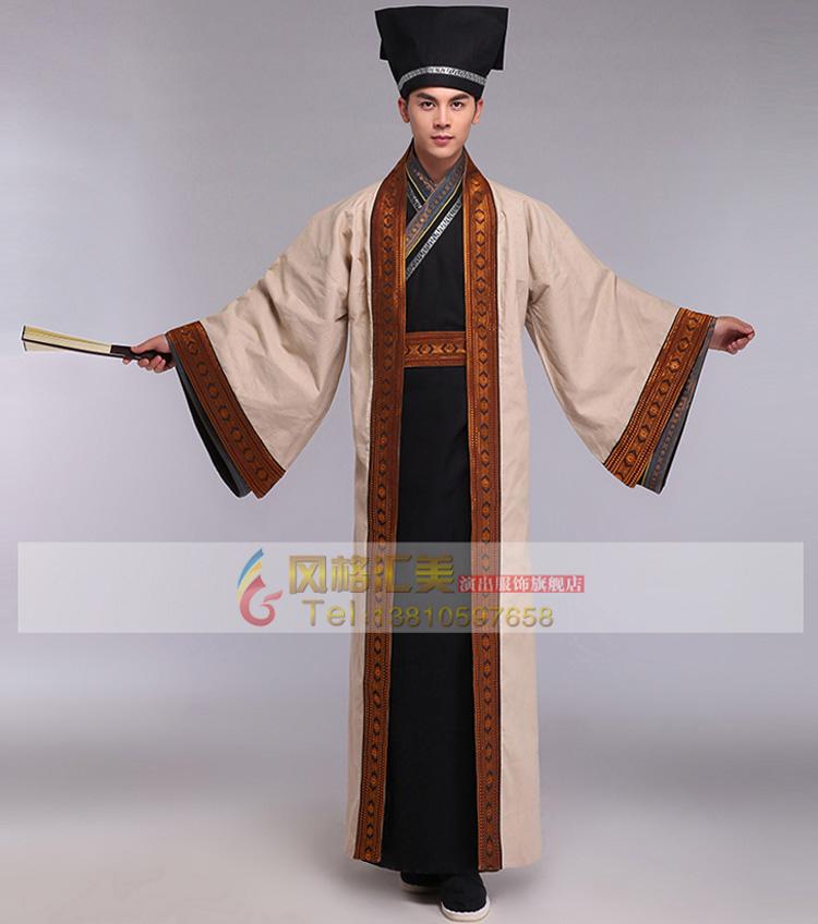 风格汇美新款古装男师爷服年会演出服三国演义诸葛亮服装古代服装