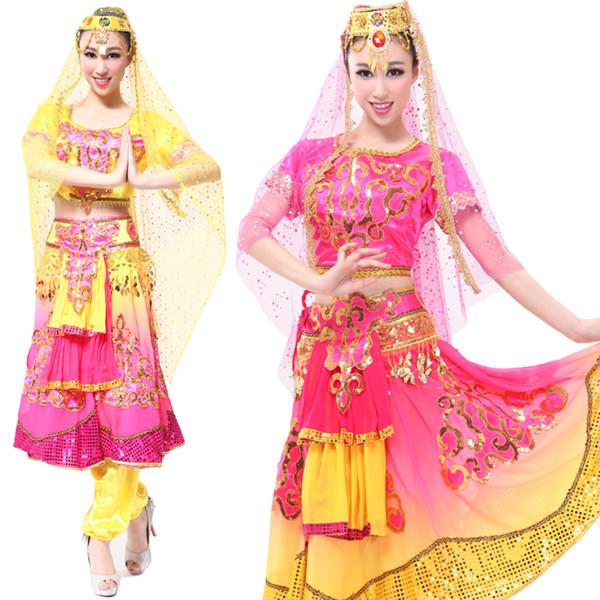 新疆舞蹈服,赛乃姆音乐,少数民族舞蹈演出服装