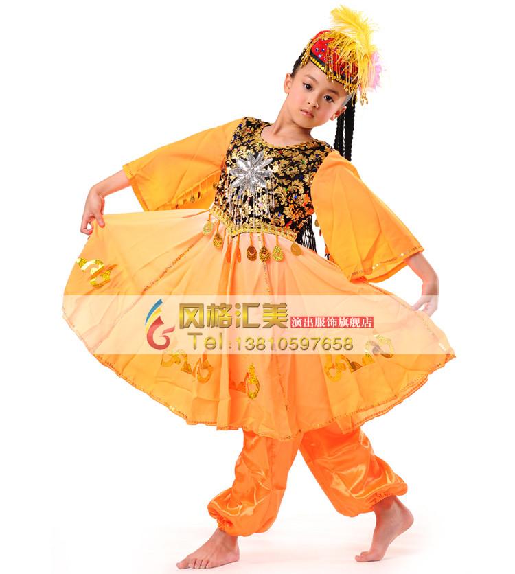 儿童新疆舞蹈服装怎么选