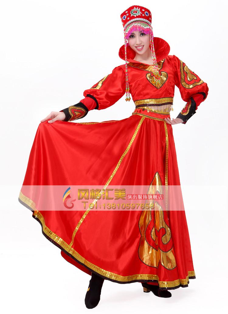 蒙古族演出服装设计