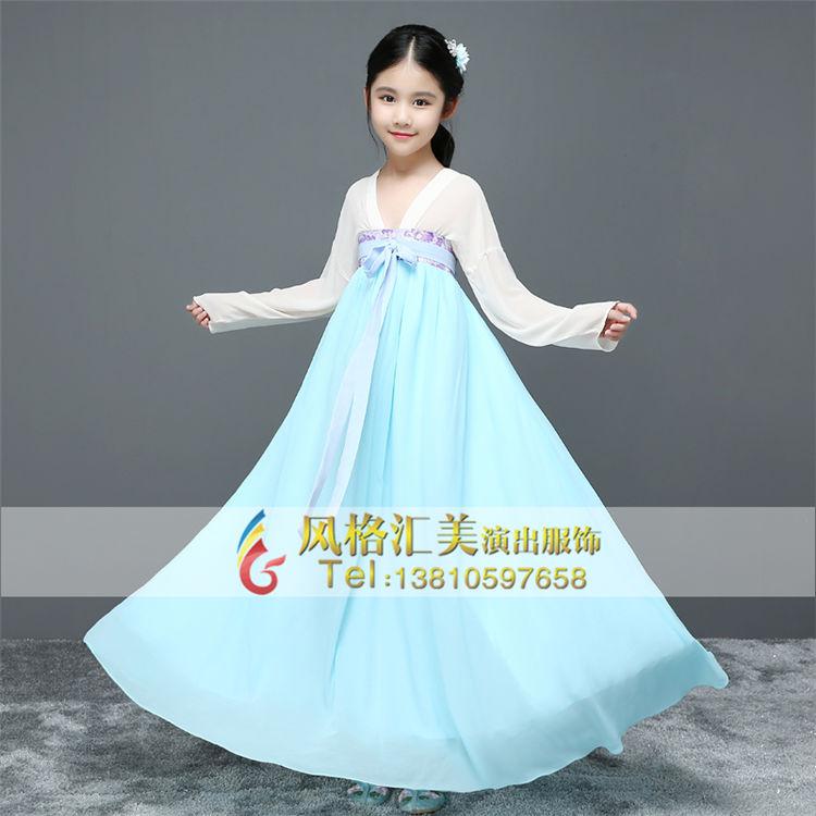 新款儿童古代公主服装古装仙女服装