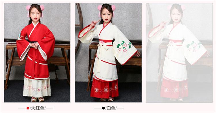 新款儿童长款古代服装定制设计厂家直销