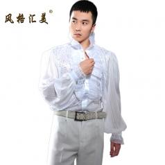 男士合唱衬衫,男士合唱服装定做工厂_风格汇美演出服饰