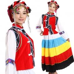 风格汇美 大凉山彝族舞蹈服 女士少数民族小摆裙 舞台演出服装