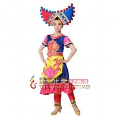 风格汇美 壮族演出服装 少数民族演出服装 舞台服装定制