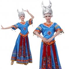 苗族舞蹈服头饰 少数民族舞蹈演出服 民族服饰舞台服装