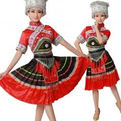 风格汇美 苗族舞蹈服头饰 少数民族舞蹈演出服 民族服饰舞台服装