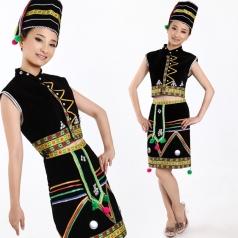 风格汇美 佤族舞蹈服装佤族演出服装 民族舞蹈服装 新款特价定制