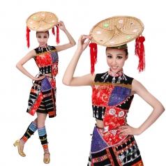 风格汇美 高原女人歌少数民族舞蹈舞台演出服装 出彝族舞蹈服