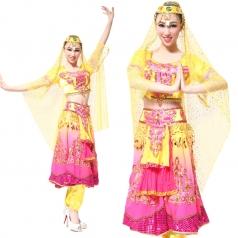 风格汇美 印度舞蹈服装 现代舞肚皮舞演出服装 印度舞表演服装
