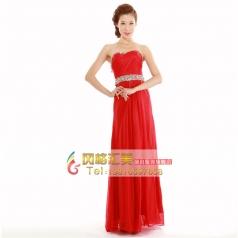 2014新款秋天时尚新娘结婚改良敬酒服 复古蕾丝长款旗袍红色女