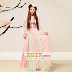 女士古代服装 粉色长裙古装 汉代宫廷服装