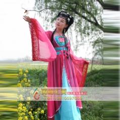 古代服装 女士玫红色唐朝古装定制