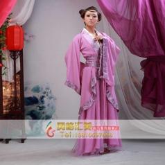 女士丫鬟古装 粉色古代服装定制