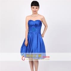 抹胸宝蓝色礼服 女士短款小礼服