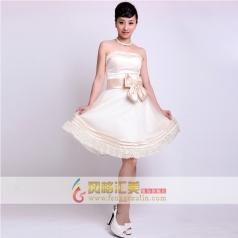 女士短款小礼服 结婚伴娘装 定制