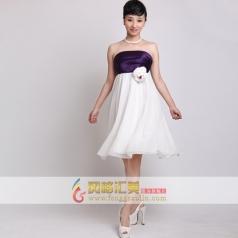 女士白色礼服 短款小礼服