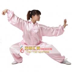 太极服亚光纺丝 中老年晨练服 男女武术比赛服装