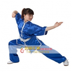 南韩纺丝太极拳练功服太极服女式武术表演服装