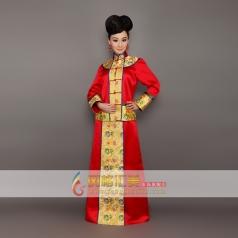 长袖传统刺绣旗袍长款旗袍可订制