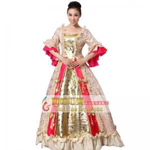 出租欧式刺绣王后服装