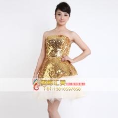 亮片短款礼服 女士演出服装舞台礼服