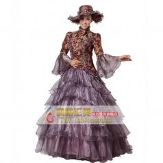欧洲刺绣女士表演服装  宫延服装