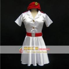八一建军节演出服装白色女士服装