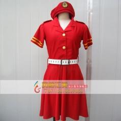八一建军节红色女士演出服装