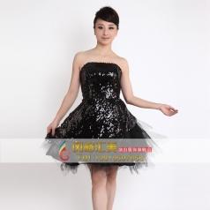 短款抹胸女士小礼服 舞台表演服装