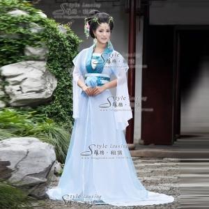 出租古代妃子演出服 租赁白色舞蹈服装
