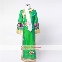 古代格格演出服  清朝绿色公主格格服装  舞台古装演出服