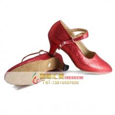 成人高跟红色舞蹈鞋 拉丁舞交谊舞鞋