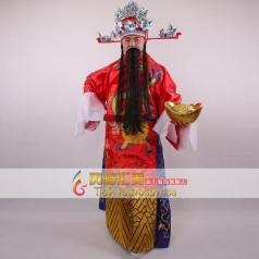 北京出租财神服装   中国古代财神演出服 舞台表演服装