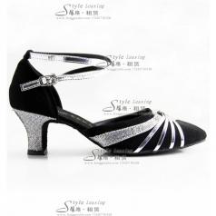 女士高跟拉丁舞蹈鞋 成人交谊舞 广场舞表演鞋