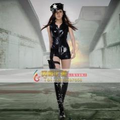 北京出租COSPLAY 女警服装 科幻片女警演出服