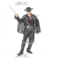 北京出租佐罗演出服  Zorro影视演出服 表演服装租赁