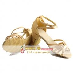 中跟成人拉丁舞蹈鞋 女士广场舞表演鞋