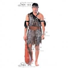 北京男士野人服装   野人演出服 非洲野人部落表演服